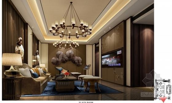 某现代中式五星级酒店设计方案效果图