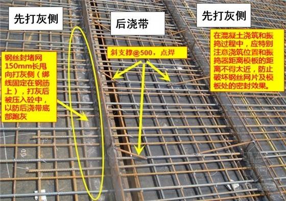 混凝土工程后浇带处封堵标准施工工艺