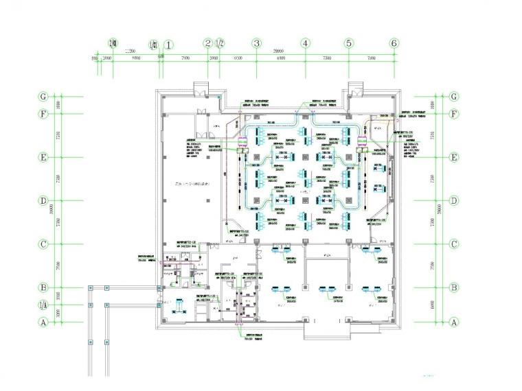[江西]多层餐饮建筑空调通风系统设计施工图