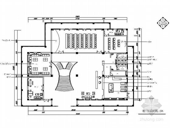 [武汉]进出口重点集团公司现代办公楼装修施工图(含效果)