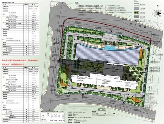 [广西]红砖立面高层儿童医院建筑设计方案文本-红砖立面高层儿童医院总平面图