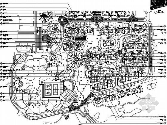 [浙江]山水田园风情住宅小区景观设计全套施工图(含效果图)