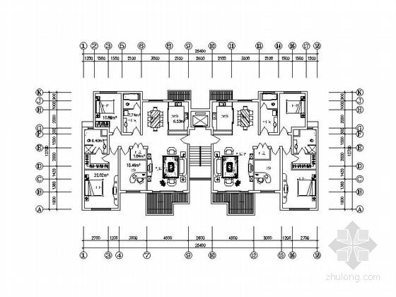 [上海]三层高档别墅及普通住宅楼建筑施工图-三层高档别墅及普通住宅楼建筑首层平面图