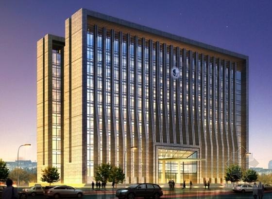[湖北]10层现代风格生产调度通信办公楼建筑设计方案文本(知名设计院)-10层现代风格生产调度通信办公楼效果图
