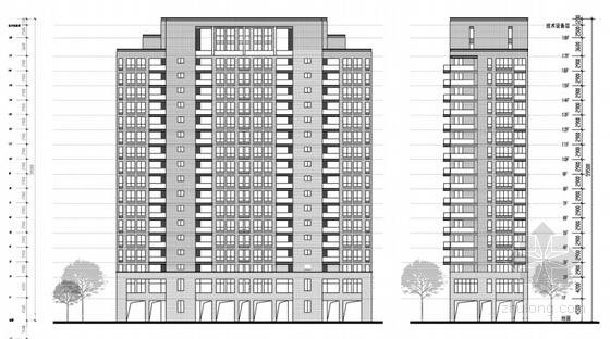 artdeco风格住宅安置小区立面图