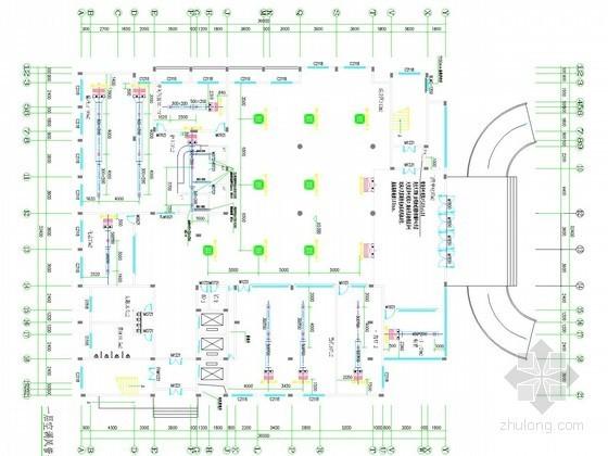 [江西]住院门诊综合大楼空调通风防排烟系统设计施工图(电力系统)