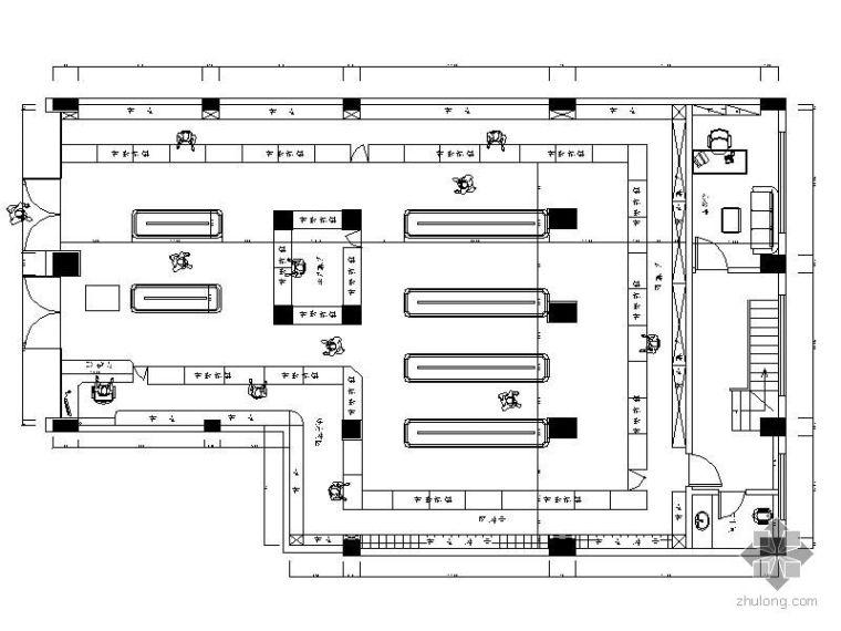 240平米药店平面布置图