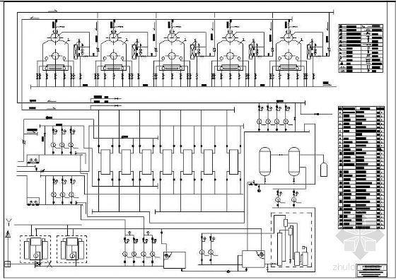 热水锅炉房系统流程图