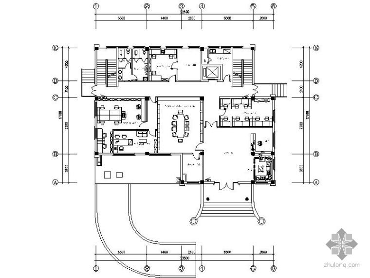 某电气办公楼装修施工图