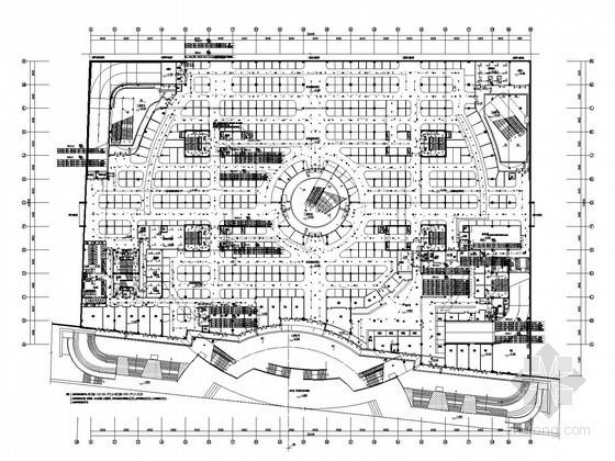 [南京]大型地下购物广场全套电气施工图纸(含审图意见)