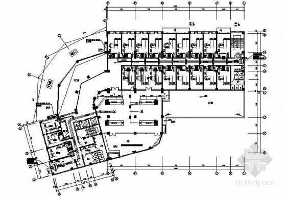 多层财政大楼中央空调及防排烟施工设计图