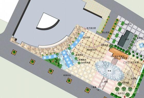 商业楼小广场景观设计方案