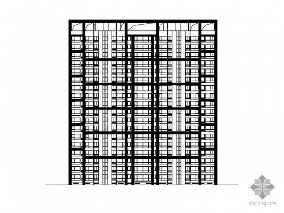 [济南]历山路某住宅区1号楼十八层一梯四户住宅楼建筑施工图