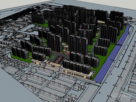 大型楼盘规划SketchUp模型下载