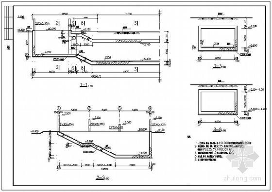 某人行地下通道结构设计图