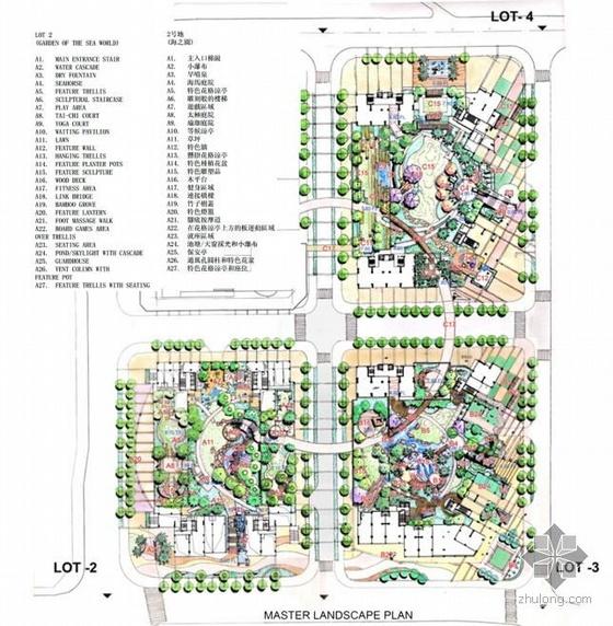 [手绘]深圳小区景观设计方案文本