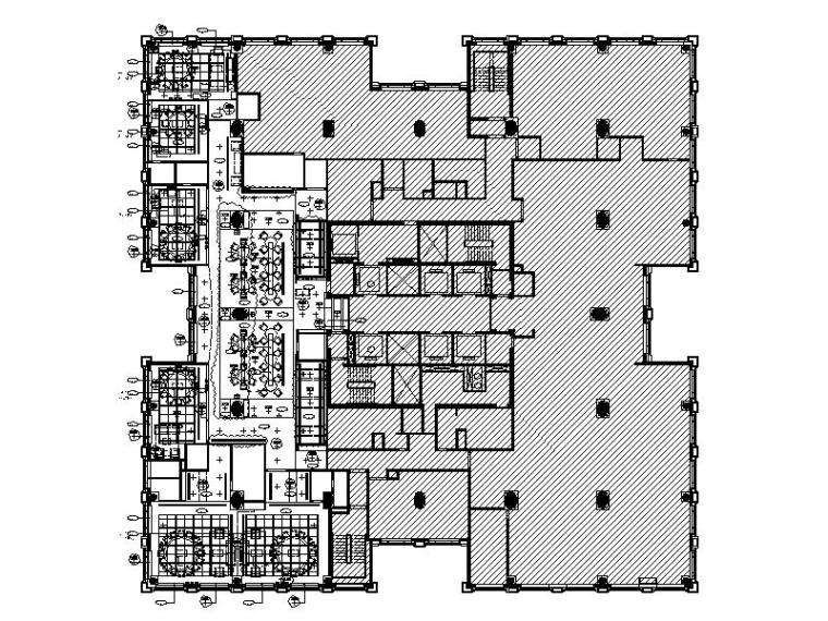 [澳门]高档五星酒店餐厅室内设计施工图