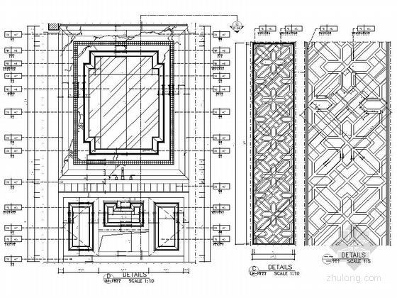[湖北]现代欧式两居室样板间室内装修图(含效果) 节点
