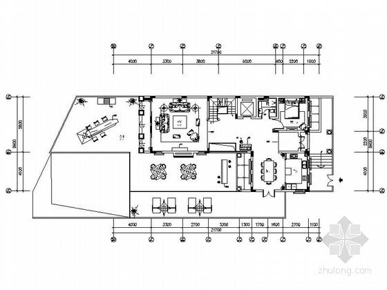 [东莞]商业生活中心区奢华欧式三层别墅样板房装修施工图