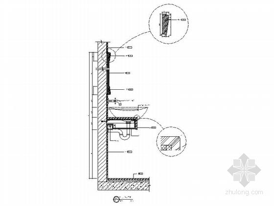 [深圳]新中式设计风格三居室精装样板房室内竣工图立面图