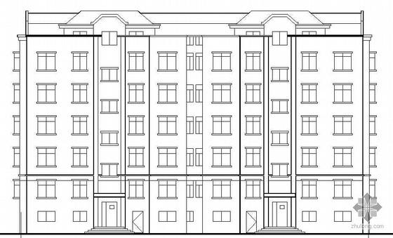 [乳山市]某花园小区住宅楼群建筑结构水暖电施工图
