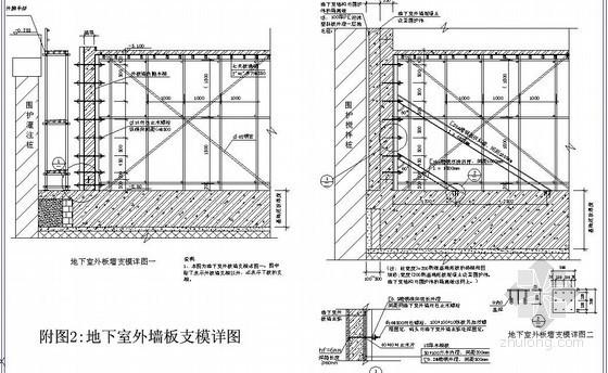 [上海]住宅楼基础施工阶段木模板施工方案(扣件式钢管支撑架)