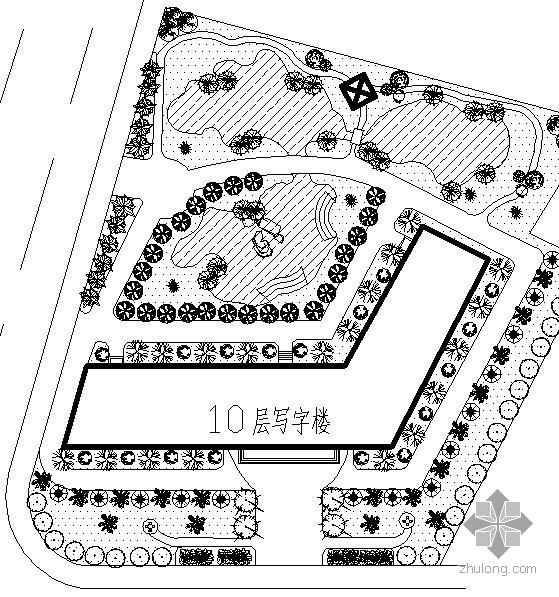 湖北某学校绿地规划设计方案