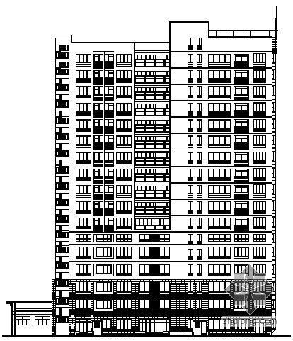某十六层住宅楼建筑施工图