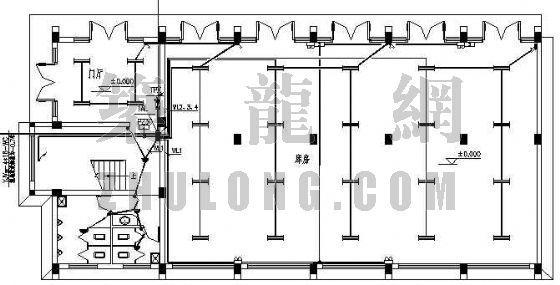 小型办公室电气设计图