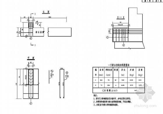 预应力混凝土空心板桥台挡块钢筋构造节点详图设计