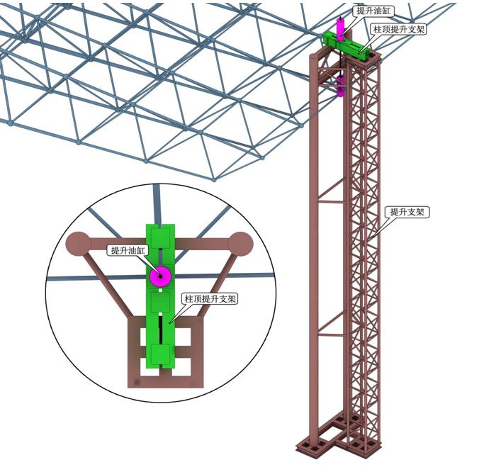 悬挑提升架结构示意图
