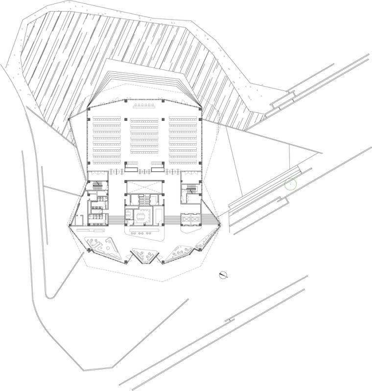 浮生御温泉度假村多功能综合建筑平面图(8)