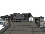 一套中式商业街.skp