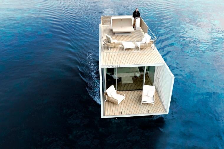 西班牙与大海融为一体的浮动别墅-2
