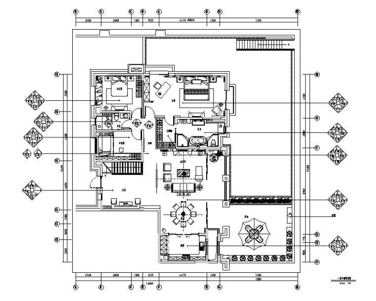江山如画|创域-万科五龙山底跃样板间设计施工图(附效果图)