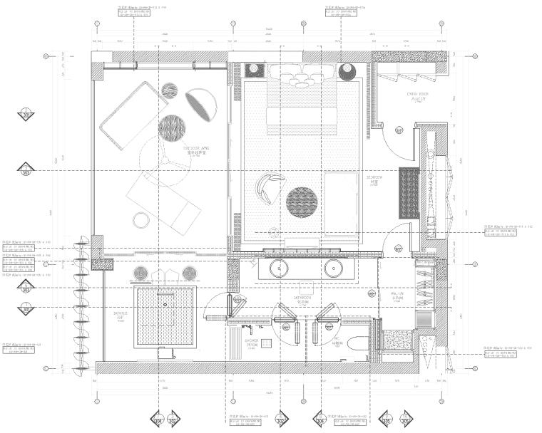 [Denniston]三亚海南太阳湾安达仕酒店客房及走廊CAD施工图+效果图