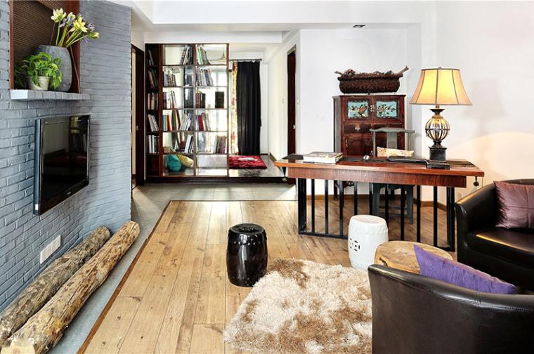100平米现代中式风格,三房两厅禅韵意境装修案例