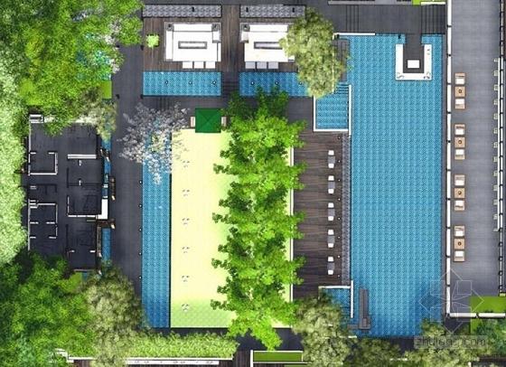 [杭州]未来高品质居住区规划设计方案-样板区平面图