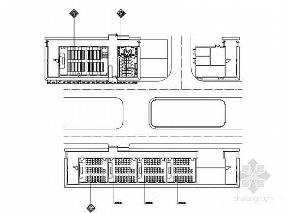 [广州]环境幽雅一级学校现代风格教学楼CAD装修施工图