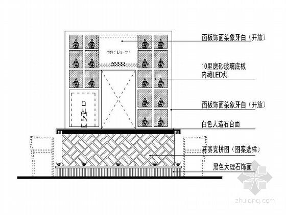 [安徽]时尚休闲酒吧室内装修施工图(含效果图) 立面图