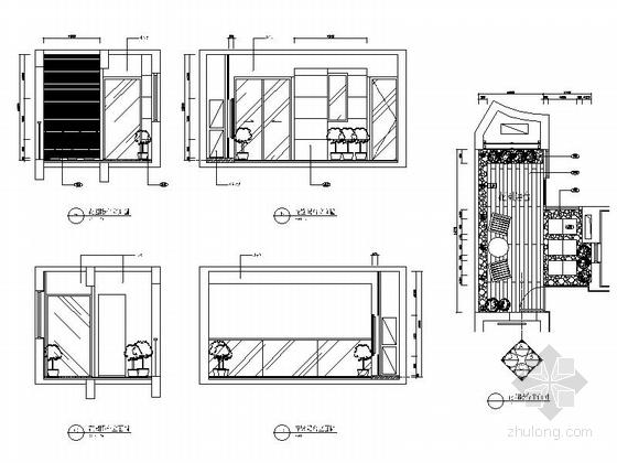 [广东]名师设计多层住宅区C型高档现代四居室装修施工图花园阳台立面图