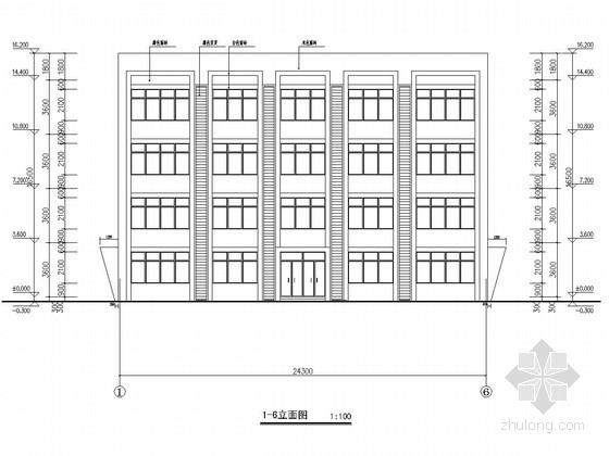 四层框架结构水厂综合管理用房及门岗结构施工图(含建筑图)