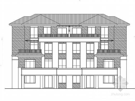 [浙江]三层120平方米坡屋顶联排式别墅建筑施工图