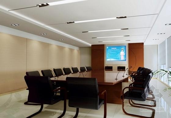[杭州]社区综合性医疗卫生服务中心室内装修设计施工图(含效果)会议室效果图