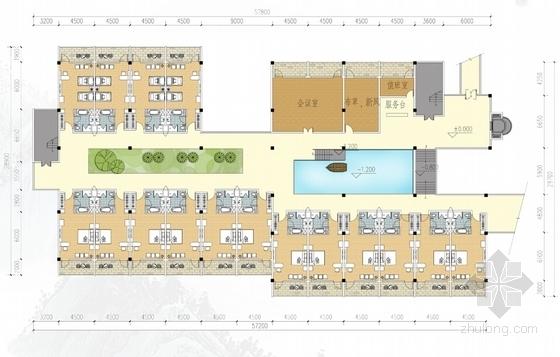 [江西]新中式风格道教养生休闲度假基地规划设计方案文本-单体建筑各层平面图
