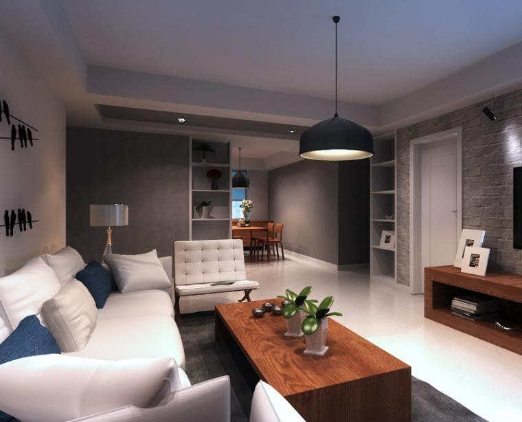 双流十里画卷装修案例及效果图 开放式厨房布灯方法