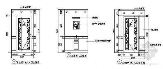 卫生间入口立面图