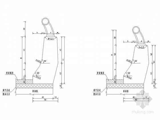 防撞栏及桥梁上部结构断面通用设计图(34张)