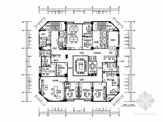 [浙江]现代简约办公室设计装修施工图(含效果图)