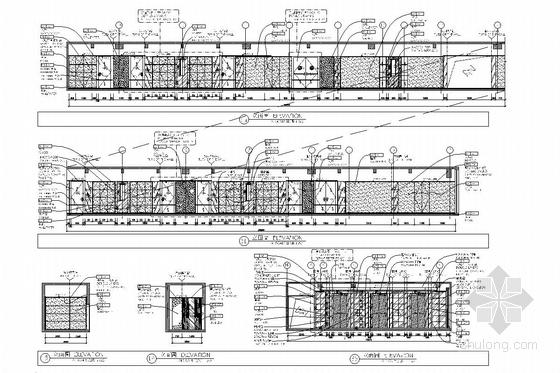[湖南]中央商务区五星级商务酒店客房部分室内施工图 过道立面图